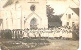 sázení lip svobody na návsi u kaple 1.6.1919