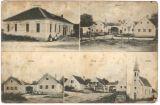 náves v Kvítkovicích  roku 1919